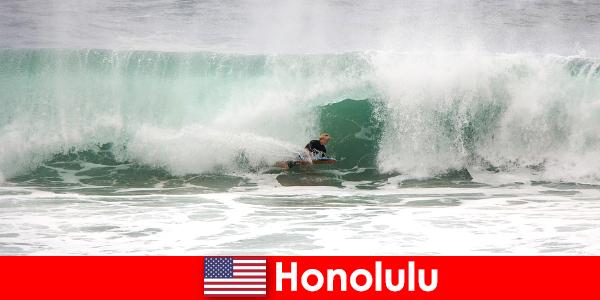 Sziget paradicsoma Honolulu kínál tökéletes hullámok hobbi ists és profi szörfösök