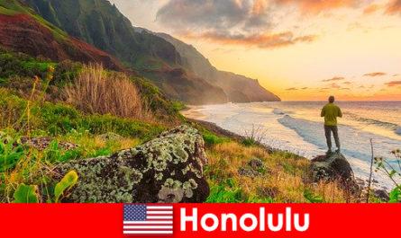 Honolulu ismert strandok, tenger, naplementék a wellness és rekreációs nyaralás