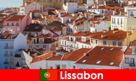Lisszabon a tengerparti város legnépszerűbb úti cél a strand nap és ízletes ételek