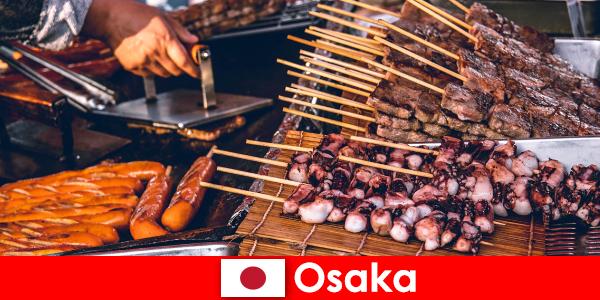 Oszaka a konyha Japán és a kapcsolattartó pont, aki keres egy nyaralás kaland