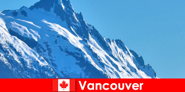 A város Vancouver Kanadában a fő cél a hegymászó turizmus