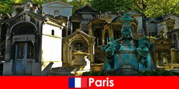 Európai utazás a temető szerelmeseinek rendkívüli temetkezési helyekkel Franciaországban Párizs