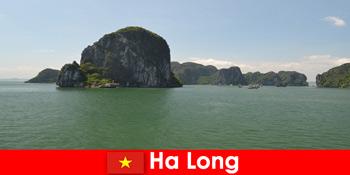 Hajókirándulások nyaralóknak a ha Long Vietnam-i rockóriásokhoz