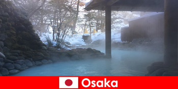 Oszaka Japán kínál spa vendégek fürdés forró források