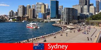 Panorámás kilátás sydney-i városra Ausztrália a világ minden tájáról érkező látogatók számára