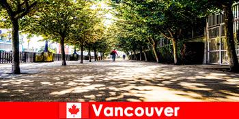 Kanada Vancouver városi útmutatók kíséri nyaralók külföldön a helyi sarkokban